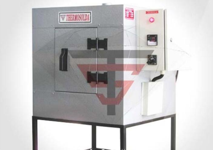 Forno eletrodo 75kg 400C 2250W com controlador digital Thermosolda