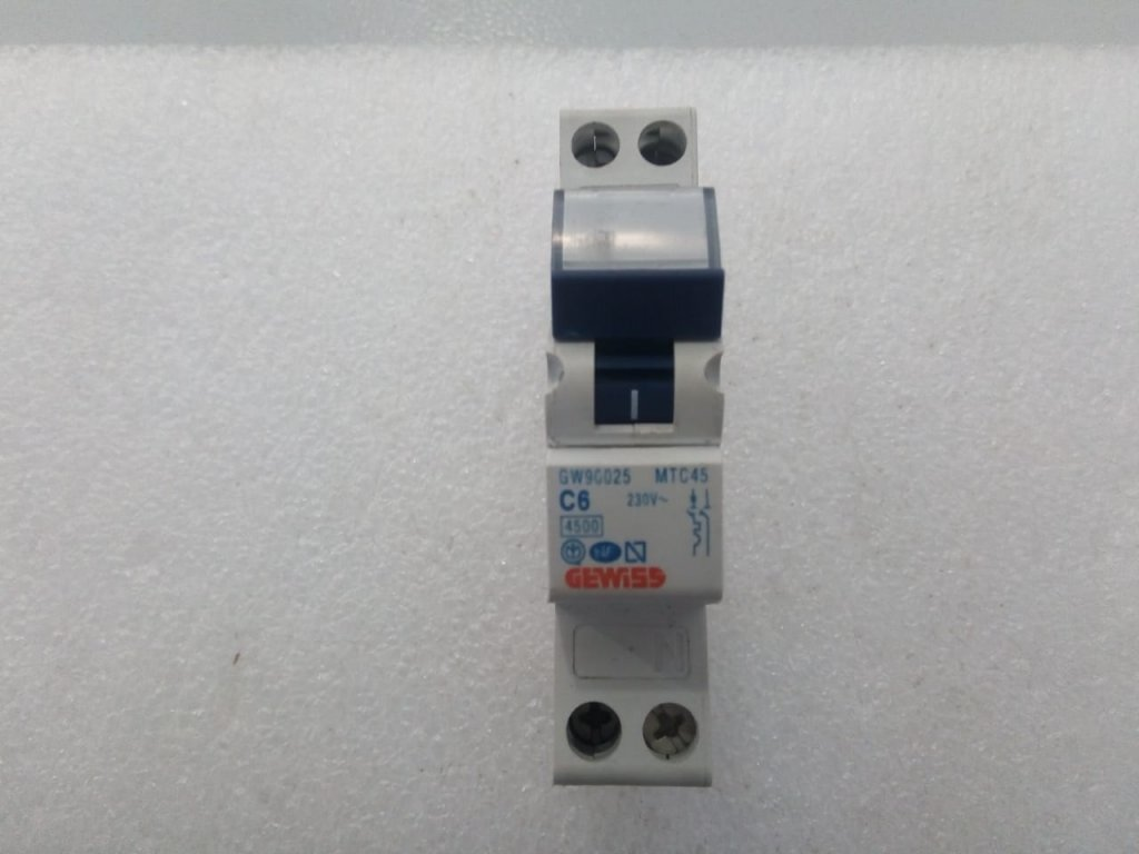 Disjuntor Gewiss Gw90025 - (6a/1p+n)