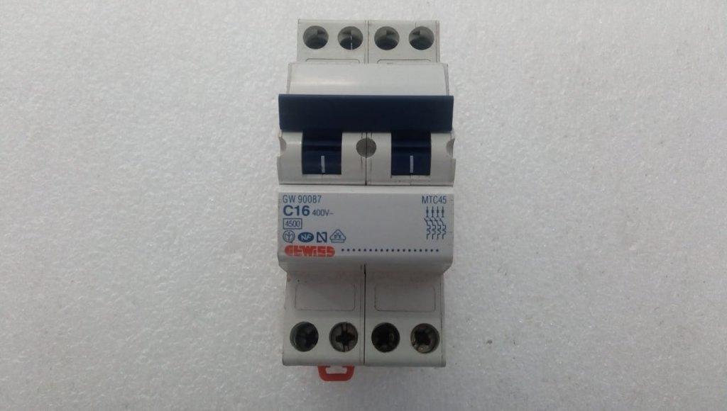 Disjuntor Gewiss Gw90087 - (16a/4p)