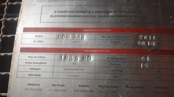 Elevador Cremalheira 1.000kg
