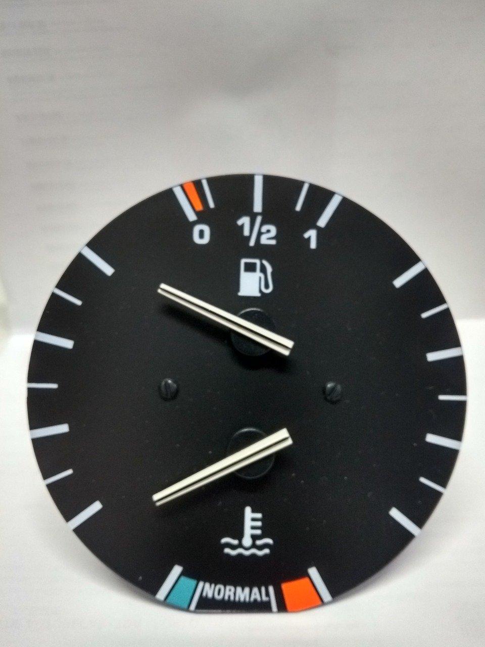 Indicador temperatura e combustivel