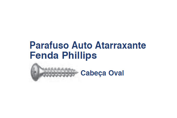 PARAFUSO OVAL PH AA (PA OV PH AA 6,3x38 RI ZB)