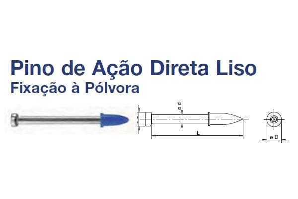 PINO AÇO AÇÃO DIRETA (PINO AC ACAO DIRETA ROSCADO 3/8X30X18 ZM)