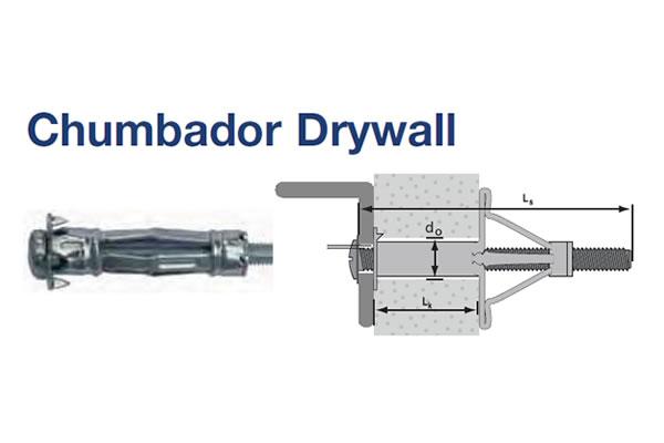 CHUMBADOR DRY WALL AÇO (CHB DW AC 4X25 ZB)