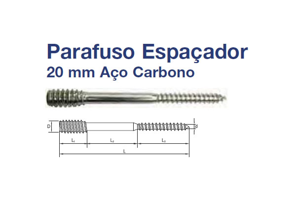 PARAFUSO ESPAÇADOR (PA EP 20MM SI AC 6X150 RP ZB)