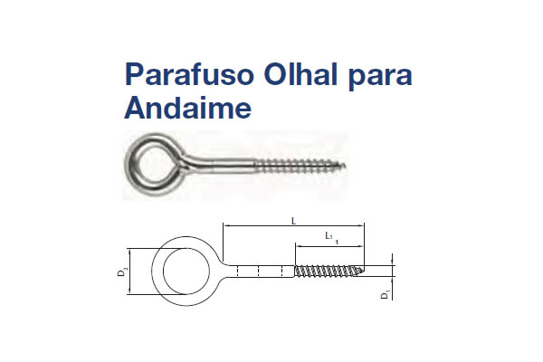 PARAFUSO OLHAL ANDAIME (PA OLHAL ANDAIME AA AC 12X350 ZB)