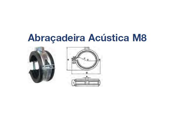 ABRAÇADEIRA ACÉSTICA (ABRACADEIRA ACUSTICA AC M8X20-23 ZB)