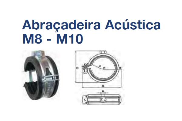 ABRAÇADEIRA ACÉSTICA (ABRACADEIRA ACUSTICA AC M8-M10X60-65 ZB)