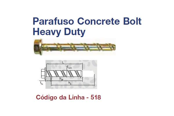 PARAFUSO CCT BOLT HEAVY DUTY C45 (PA CCT BOLT HEAVY DUTY C45 AC 6X75 Z