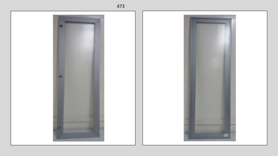 Moldura PVC com vidro - 1197 x 332 x 20