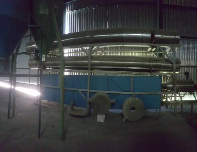 Cristalizador contínuo para PET com sistema de resfriamento do grão