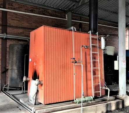 Caldeira à lenha / 1.000 kg/h vapor
