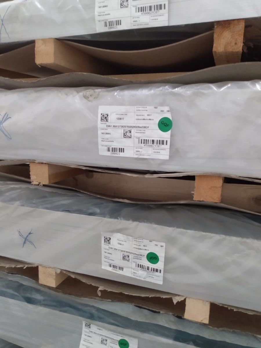 Chapa de Alumínio 2,50 x 800 x 2750 mm