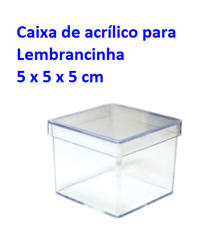 CAIXINHA EM ACRILICO 5X5
