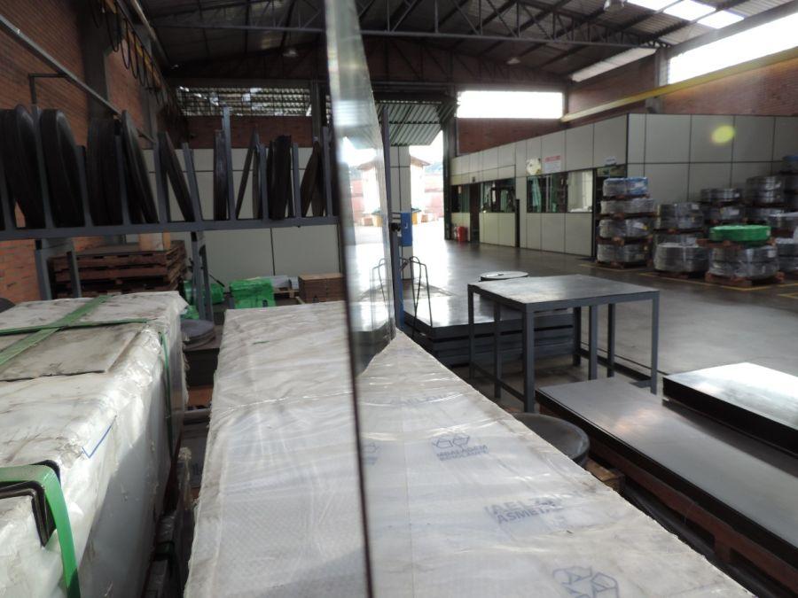 Retalho aço galvanizado SAE 1075 Cr1 Temperada - 2,11 x 305 x comprime