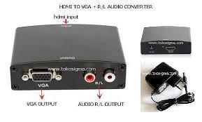 Conversor HDMI para  VGA com audio R/L
