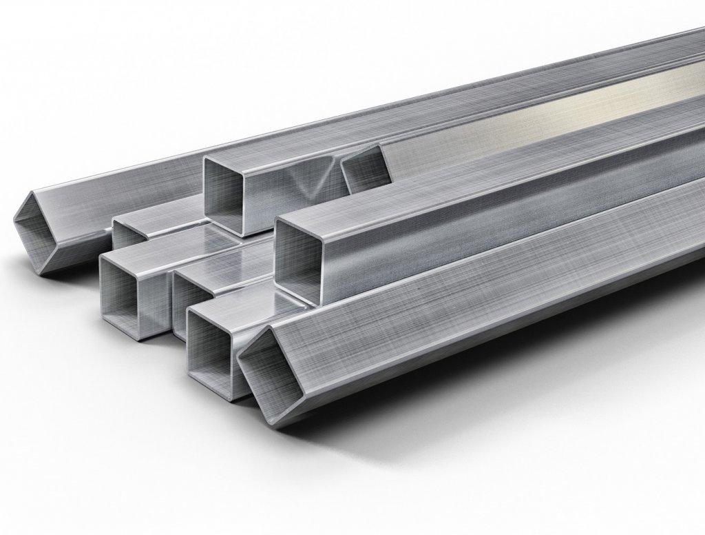 TUBO QUADRADO INOX ASTM A240 304 Polido - 50 X 50 X 3 X 6000mm