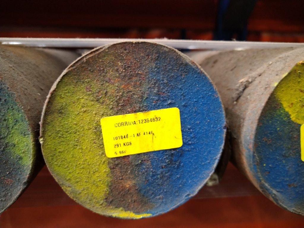 Lote de barra de aço 1020, 1045 e Diversos