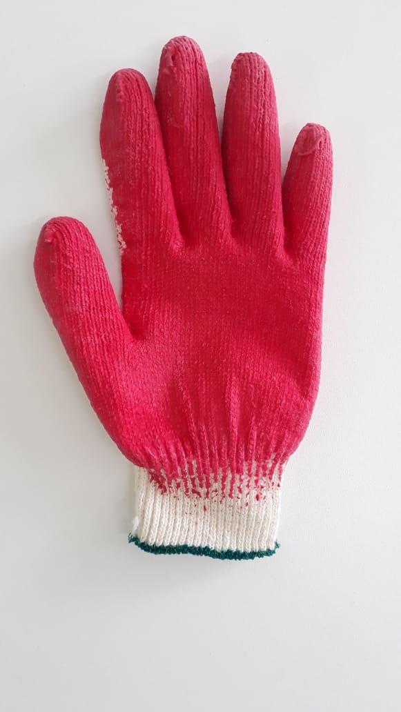 Luva de Algodão com látex na palma